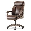 Veon Series Executive HighBack Leather Chair, Coil Spring Cushioning,Brown