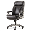 Veon Series Executive HighBack Leather Chair, Coil Spring Cushioning,Black