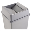 Untouchable Square Swing Top Lid, Plastic, 20 1/8 x 20 1/8 x 6 1/4, Gray