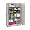 Tennsco Jumbo Combination Steel Storage Cabinet, 48w x 24d x 78h, Light Gray