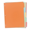 Write-On Plain-Tab Dividers, 5-Tab, Letter, 36 Sets