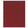 MiracleBind Notebook, College/Margin, 11 x 9 1/16, White, Red Cover, 75 Sheets