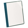 Earthwise Recycled Clear Front Report Covers, Letter Size, Blue, 25/Box