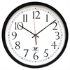 "Chicago Lighthouse SelfSet Wall Clock, 14-1/2"", Black"
