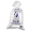Inteplast Group Ice Bag, 11 x 20, 8lb Capacity, 1.5mil, Clear/Blue, 1000/Carton