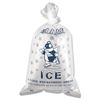 Ice Bag, 12 x 21, 10lb Capacity, 1.5mil, Clear/Blue, 1000/Carton