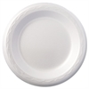 "Foam Dinnerware, Plate, 6"" dia, White, 125/Pack, 8 Packs/Carton"