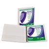 "Samsill Clean Touch Locking Round Ring View Binder, Antimicrobial, 1"" Cap, White"