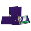 "Samsill Clean Touch Locking D-Ring Reference Binder, Antimicrobial, 5"" Cap, Blue"
