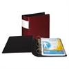 "DXL Heavy-Duty Locking D-Ring Binder With Label Holder, 3"" Cap, Burgundy"