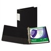 "Samsill Clean Touch Locking D-Ring Reference Binder, Antimicrobial, 1 1/2"" Cap, Black"