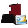 "Samsill DXL Heavy-Duty Locking D-Ring Binder With Label Holder, 2"" Cap, Burgundy"