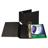 "Clean Touch Locking D-Ring Reference Binder, Antimicrobial, 5"" Cap, Black"