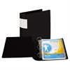 "DXL Heavy-Duty Locking D-Ring Binder With Label Holder, 3"" Cap, Black"