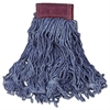 Super Stitch Blend Mop Head, Large, Cotton/Synthetic, Blue, 6/Carton