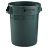 Rubbermaid Commercial Round Brute Container, Plastic, 32 gal, Dark Green