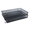 Mesh Stackable Side Load Tray, Legal, Black