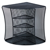 Universal Mesh Desktop Corner Organizer, Six Compartments, Black