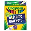 Extreme Color Marker, Assorted, 8/Pack