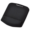PlushTouch Mouse Pad with Wrist Rest, Foam, Black, 7 1/4 x 9-3/8