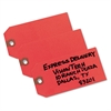 Unstrung Shipping Tags, Paper, 4 3/4 x 2 3/8, Red, 1,000/Box