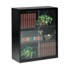 Executive Steel Bookcase With Glass Doors, Three-Shelf, 36w x 15d x 42h, Black