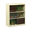 Tennsco Executive Steel Bookcase With Glass Doors, Three-Shelf, 36w x 15d x 42h, Putty