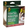 "Duck Carpet Tape, 1.88"" x 75ft, 3"" Core"