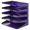 Steelmaster Soho Horizontal Organizer, Letter, Five Tier, Steel, Blue