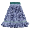 Boardwalk Super Loop Wet Mop Head, Cotton/Synthetic, Medium Size, Blue