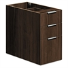 HON Voi Box/Box/File Support Pedestal, 16w x 30d x 28 1/2h, Columbian Walnut