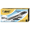 BIC Atlantis Retractable Gel Pen, Black, .7mm, Medium, Dozen