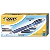 BIC Atlantis Retractable Gel Pen, Blue, .7mm, Medium, Dozen