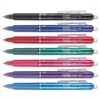 Clicker Erasable Gel Ink Retractable Pen, Assorted Ink, .7mm, 7/Pack