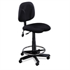 Mayline Swivel Task Stool, Black Fabric