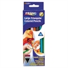 Triangular Colored Woodcase Pencil, 5.5 mm, Assorted, 12/Set