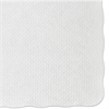Hoffmaster Knurl Embossed Scalloped Edge Placemats, 9 1/2 x 13 1/2, White, 1000/Carton