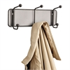 Safco Onyx Mesh Wall Racks, 3 Hook, Steel