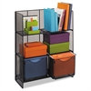 Onyx Mesh Fold-Up Shelving, 27 1/2w x 11d x 34 1/4h, Black