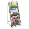 Onyx Magazine Floor Rack, 12-1/2w x 13d x 26-3/4h, Black