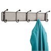 Onyx Mesh Wall Racks, 5 Hook, Steel