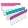 File Tabs, 3 x 1 1/2, Assorted Pastel Colors, 24/Pack