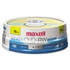 Maxell DVD-RW Discs, 4.7GB, 2x, Spindle, Gold, 15/Pack