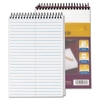 TOPS Docket Gold Spiral Steno Book, Gregg Rule, 6 x 9, White, 100 Sheets
