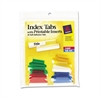 Avery Insertable Index Tabs with Printable Inserts, 1, Assorted Tab, 25/Pack