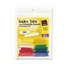 Avery Insertable Index Tabs with Printable Inserts, 1 1/2, Assorted, White, 25/Pack