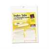 Avery Insertable Index Tabs with Printable Inserts, 1 1/2, Clear Tab, White 25/Pack