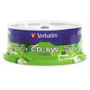 Verbatim CD-RW Discs, 700MB/80min, 4X/12X, Spindle, 25/Pk