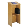 Safco Stand-Up Lectern, 23w x 15-3/4d x 46h, Medium Oak