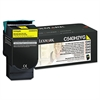 Lexmark C540H2YG High-Yield Toner, 2000 Page-Yield, Yellow